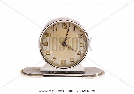 Ancient Vintage Retro Clock Minute Four Isolated