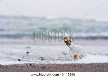 Message in Bottle on the beach