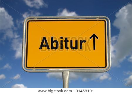 German Road Sign Graduation