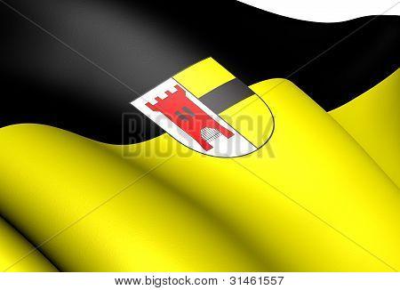 Flag Of Moers, Germany.