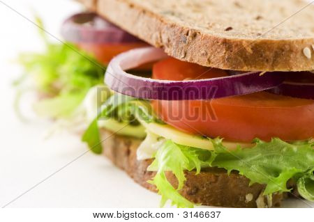 Sandwich With Cheese And Vegetables