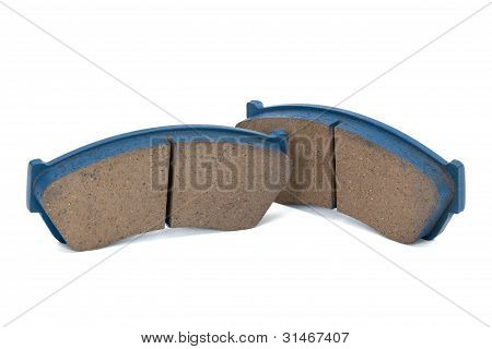 New Brake Pads Disk Brake (isolated)
