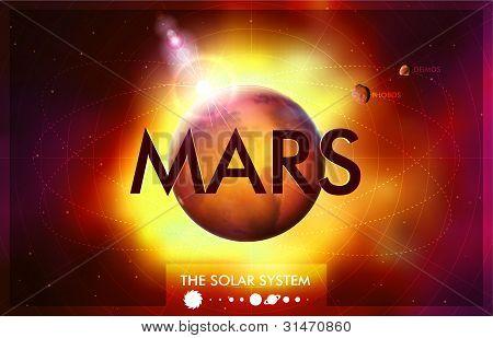 Vector Sistema Solar - planeta Marte