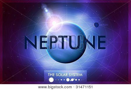 Vector Solar System - Planet Neptune