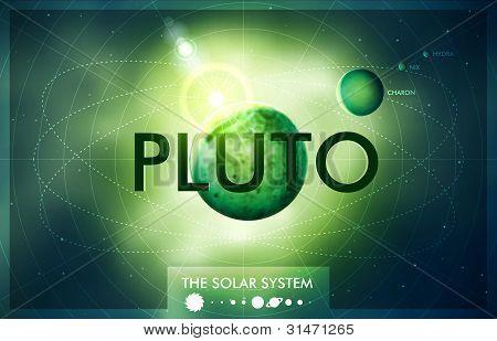 Vector Sistema Solar - planeta Plutão