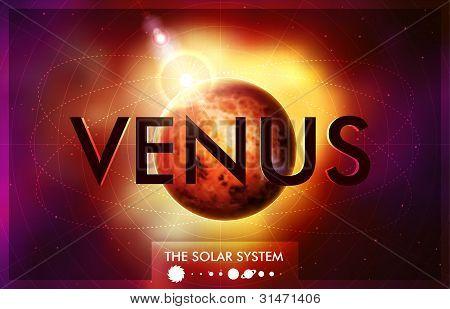 Vector Sistema Solar - planeta Vênus