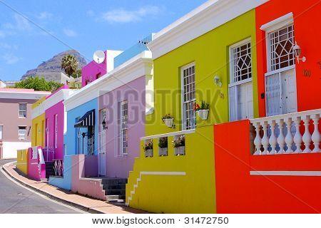 BoKaap Houses on Curved Street