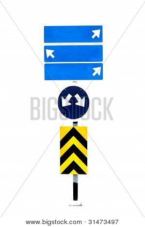 this is roadsign isolated on white background