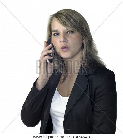 Cute Girl Talking On The Mobile Phone