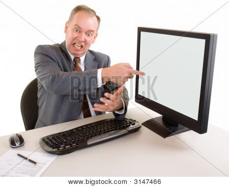 Middle Aged Businessman Angry About Something