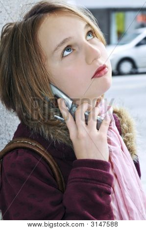 Teenage Girl Talking On Cell Phone