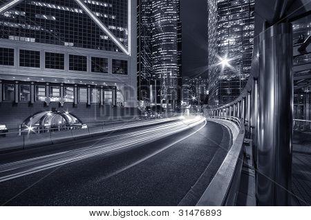 Noche de la ciudad de Hong Kong