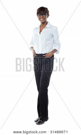 Gorgeous Afrian Businesswoman, Full-length