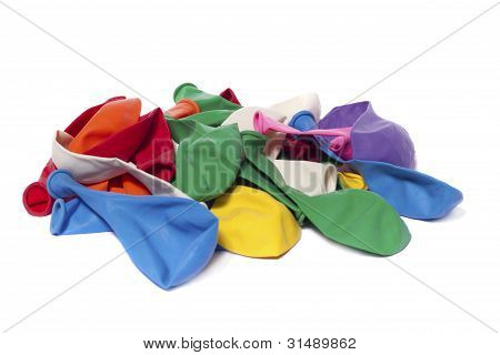 Deflated Colorful Balloons