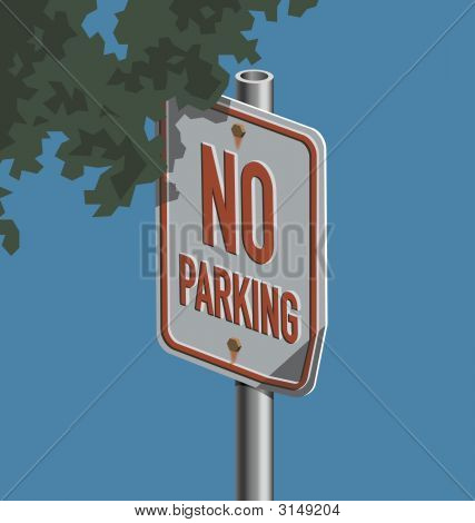 Road Sign; No Parking