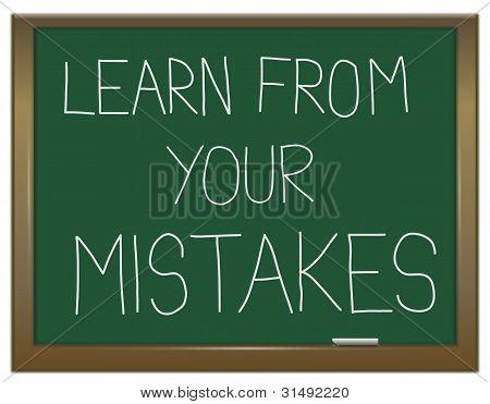 Aprenda de sus errores.