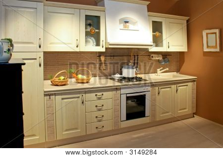 Vintage cocina amplia