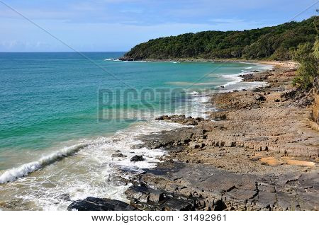 Rock Outcrop In The Noosa National Park Queensland Australia.