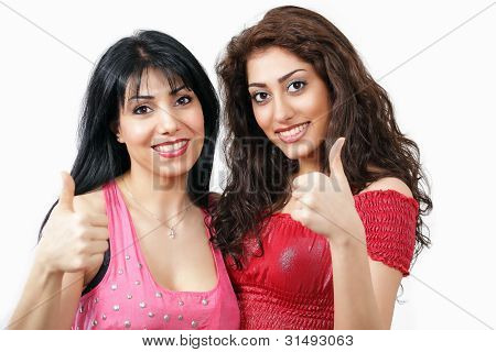 Thumbs Up - Two Women