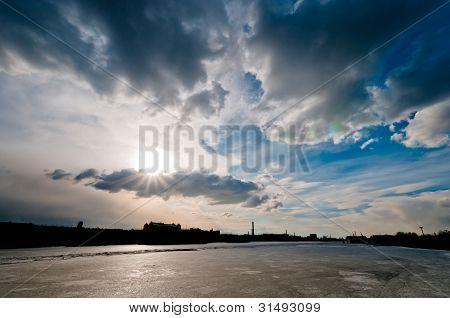 Cloudscape Over The City