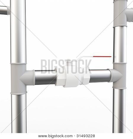 3D Pipe System And Valve