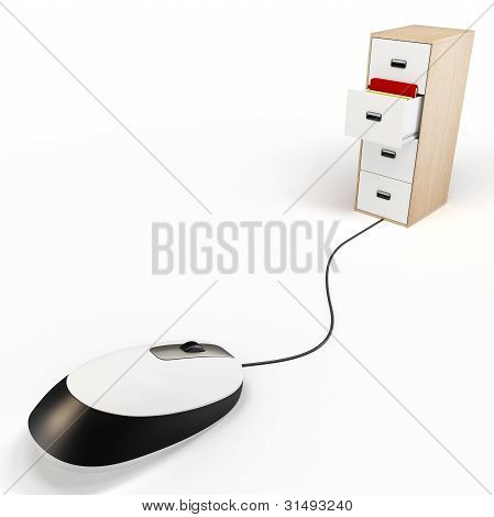 3D Mouse With Cabinet Digital Archive