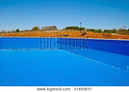 Nuevo revestimiento de la piscina