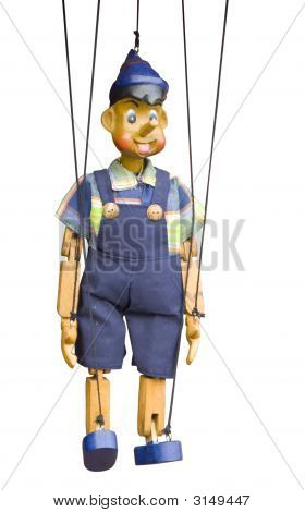 Isolated Wooden Puppet