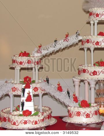 Picture or Photo of Elaborate cake for a Quincea�era 15th birthday party the Hispanic equivalent to a Sweet 16