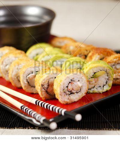 Sushi Roll Closeup