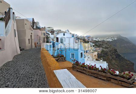 Spring Cold Morning In Santorini