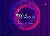 Music Fest. Creative Concert Cover Design. Dynamic Fluid Shape And Line. Music Fest Neon Flyer. Elec poster