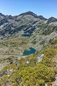 Amazing Landscape Of Kamenitsa Peak, Argirovo And Mitrovo Lakes From Dzhano Peak, Pirin Mountain, Bu poster