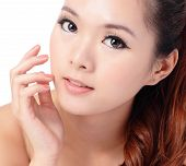 picture of japanese woman  - Asian beauty skin care woman smiling close - JPG