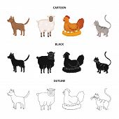 Vector Design Of Breeding And Kitchen Logo. Collection Of Breeding And Organic Stock Vector Illustra poster