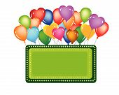 foto of happy birthday  - events balloon for celebration happy birthday or shop open - JPG