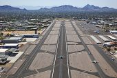 image of piestewa  - Runway and aircraft at Scottsdale - JPG