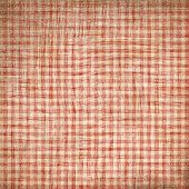picture of old-fashioned  - Red picnic fabric with straight lines on it - JPG