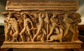 picture of deed  - High relief on marble depicting deeds of Heracles at Konya - JPG