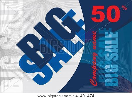 Big Sale, Vector Template Background