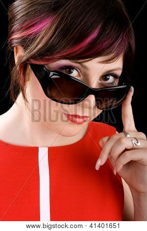 Ironic Woman In Sunglasses