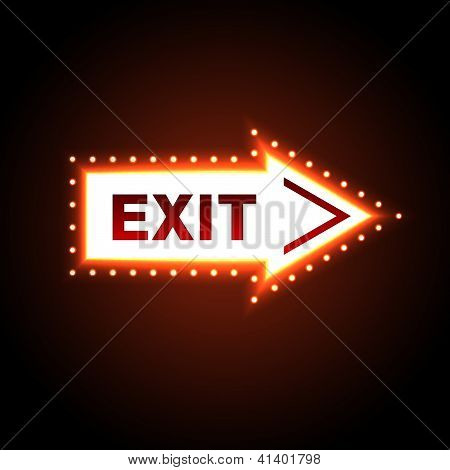 arrow with exit message