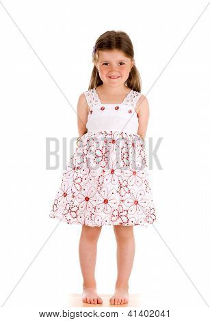 Little Innocent Girl Standing