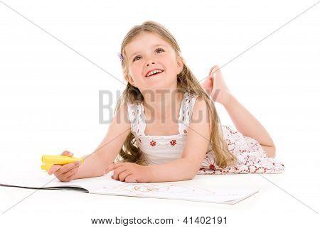 Lovely Girl Painting