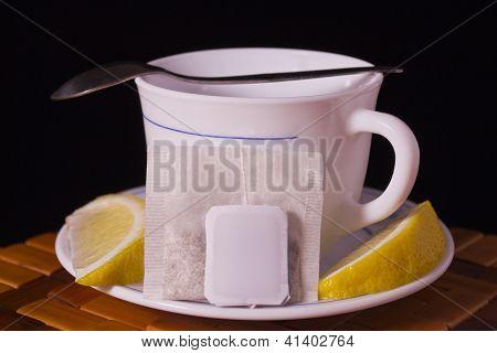 Teacup and lemon
