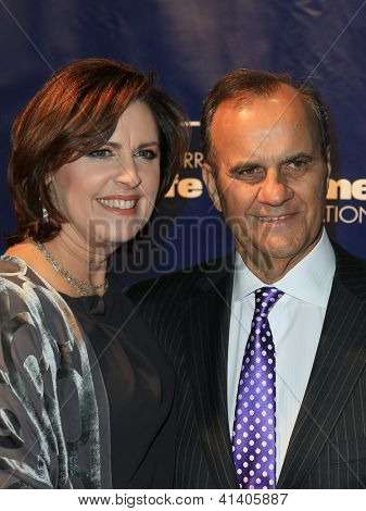 NEW YORK-JAN 24: Joe Torre and wife Ali attend the 10th Anniversary Joe Torre Safe At Home Foundation Gala at Pier 60, Chelsea Piers on January 24, 2013 in New York City.