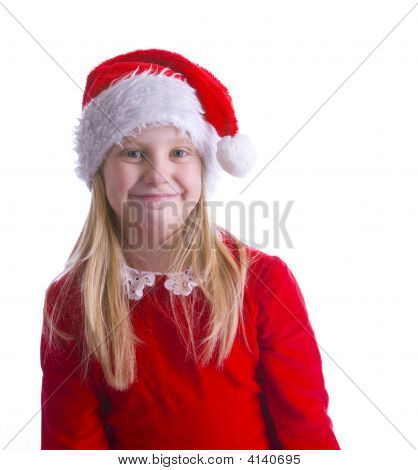 Girl Elf In Red Left