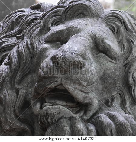 Sculpture Of A Lion As A Symbol Of  Greatness