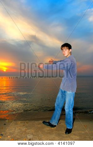 Teen Showing Sunset