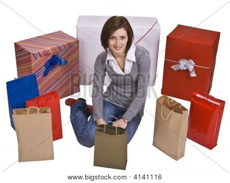Woman And Gifts